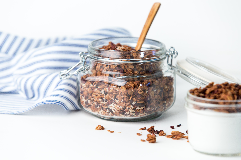Cocoa coconut granola