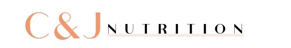 C&J Nutrition website header coral pink