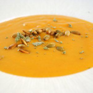 Creamy vegan pumpkin soup