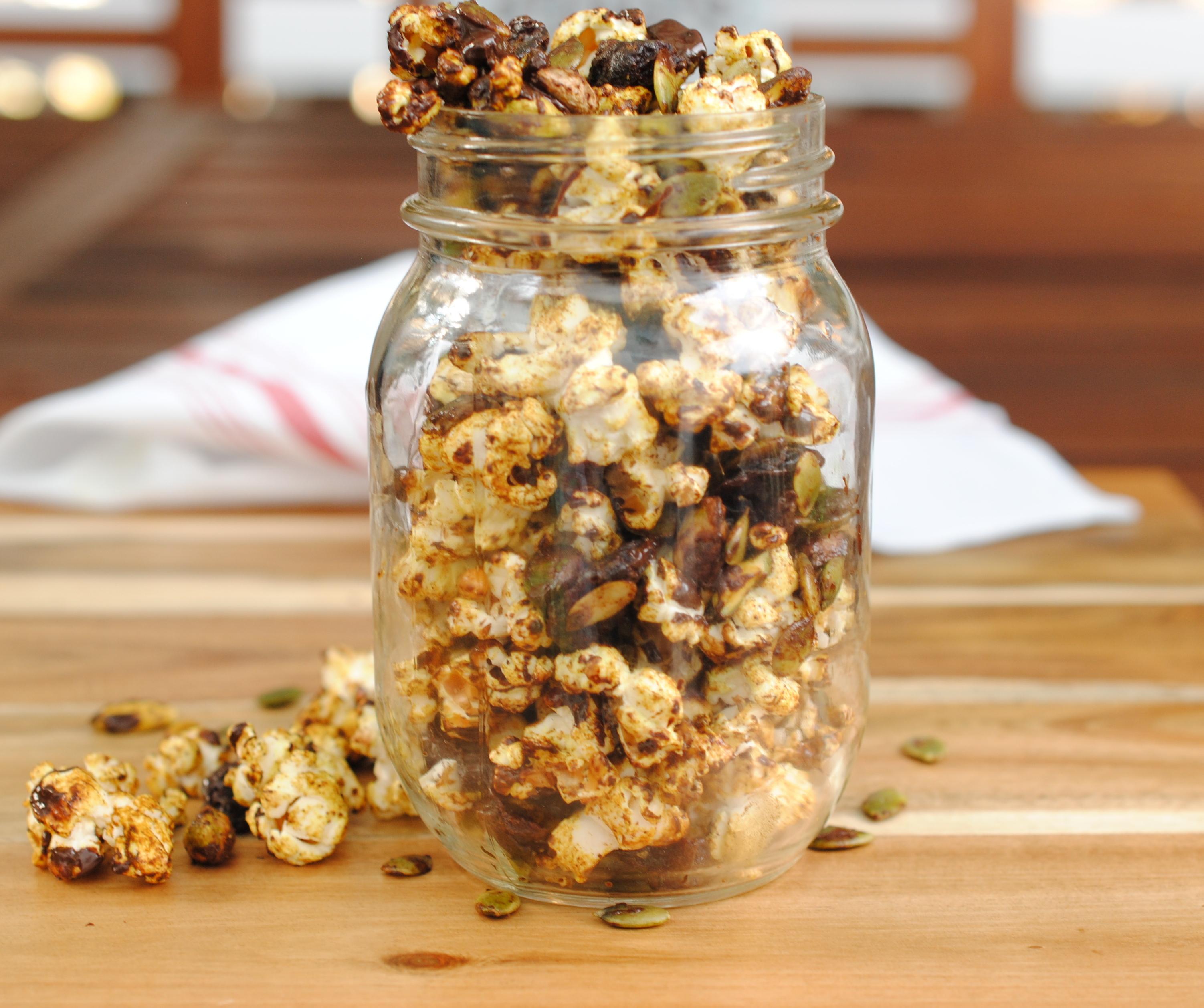 turmeric chai popcorn trail mix