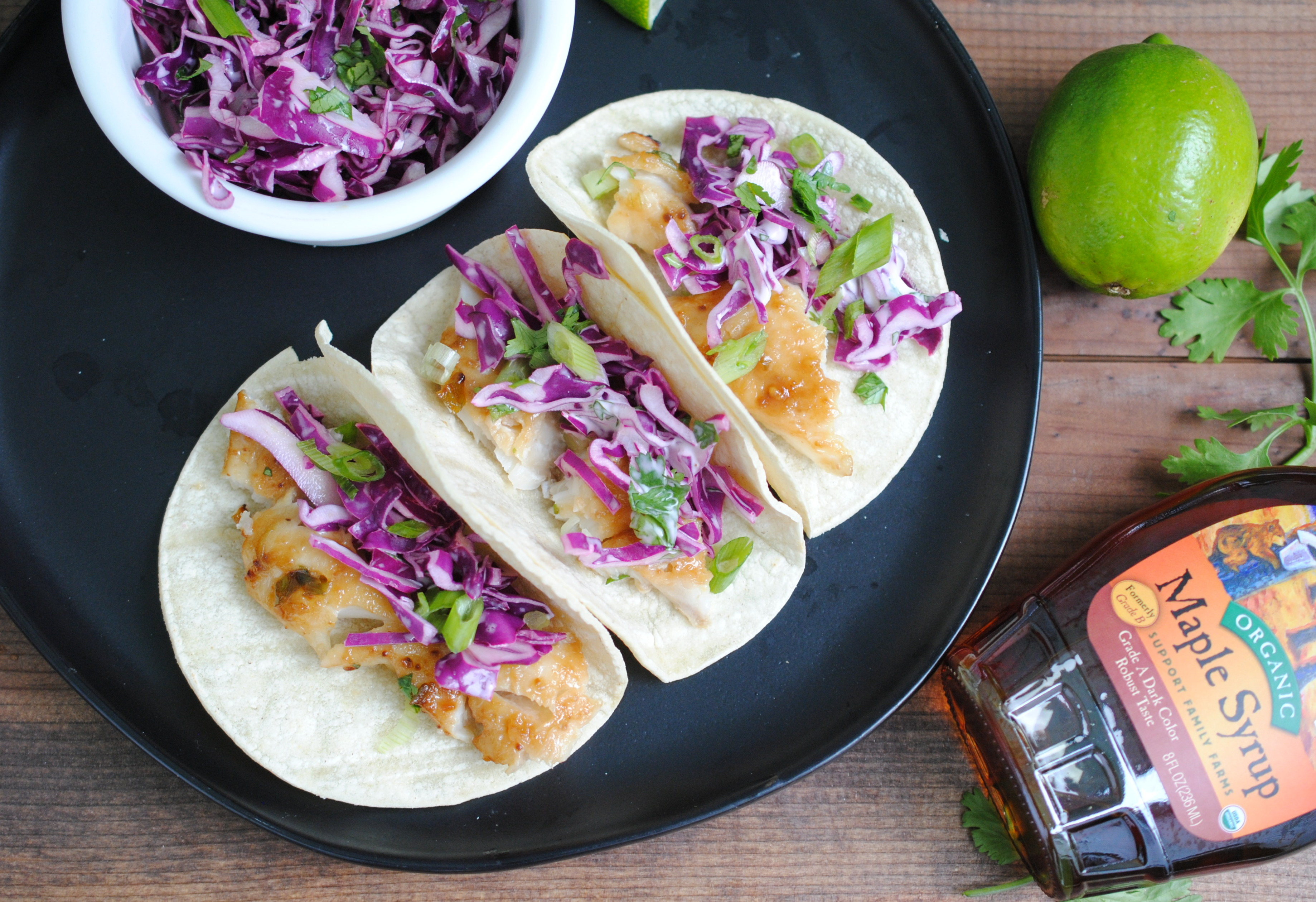 Maple Miso Cod Tacos
