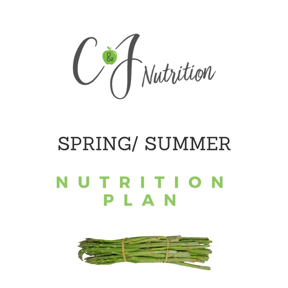 Spring / Summer Nutrition Plan