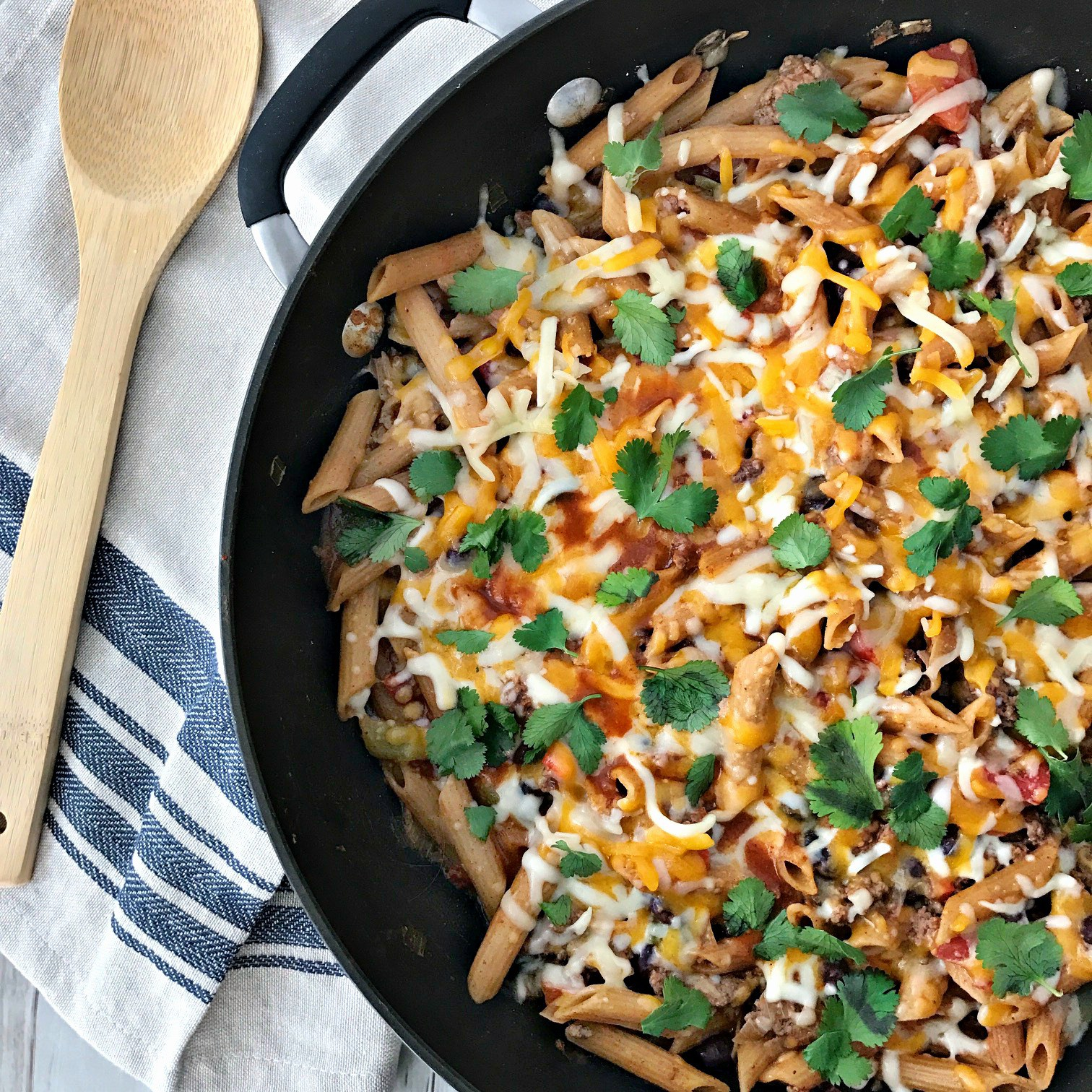 Taco-Pasta-Skillet_your choice nutrition