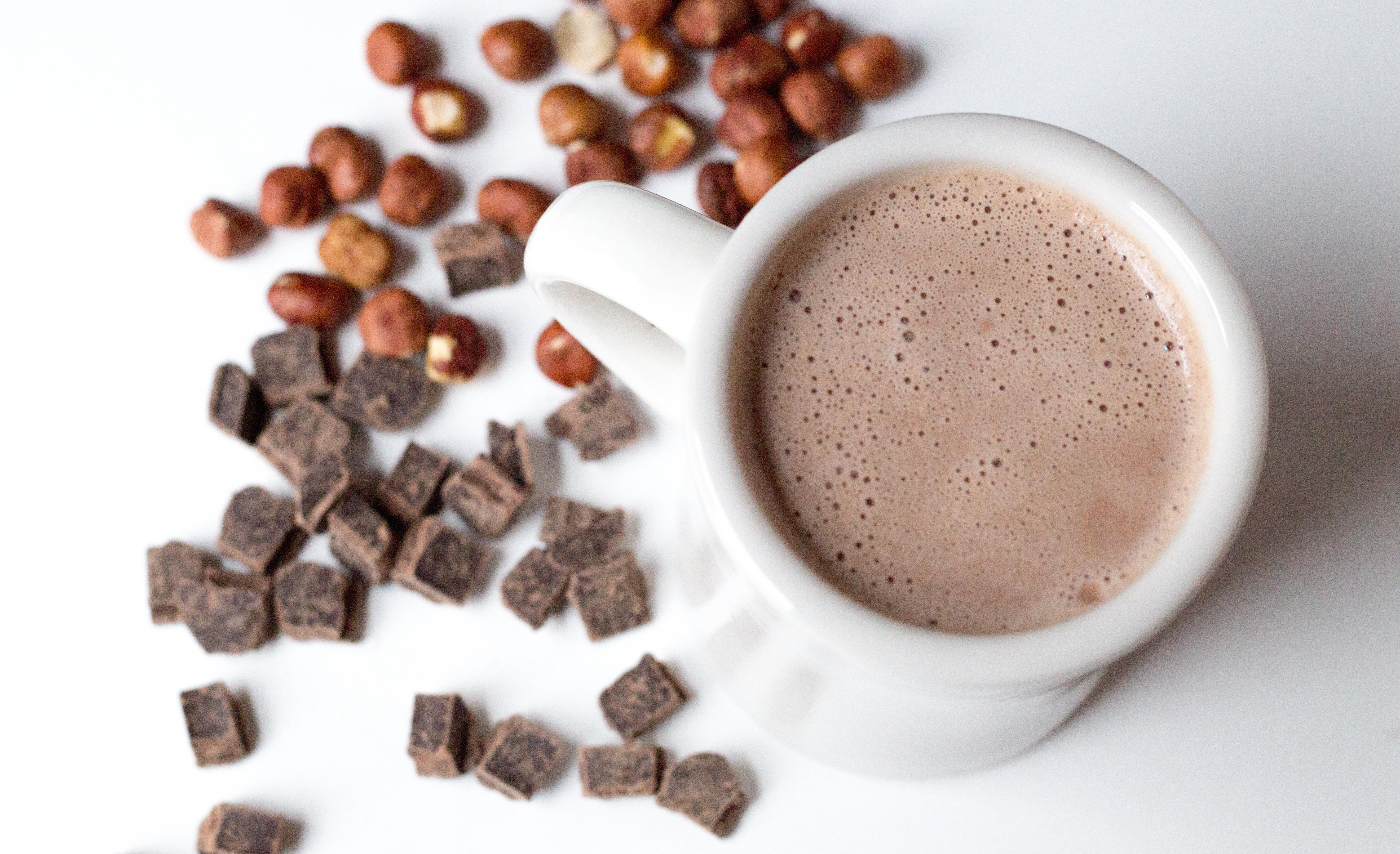 Hazelnut-Dark Chocolate Hot Cocoa