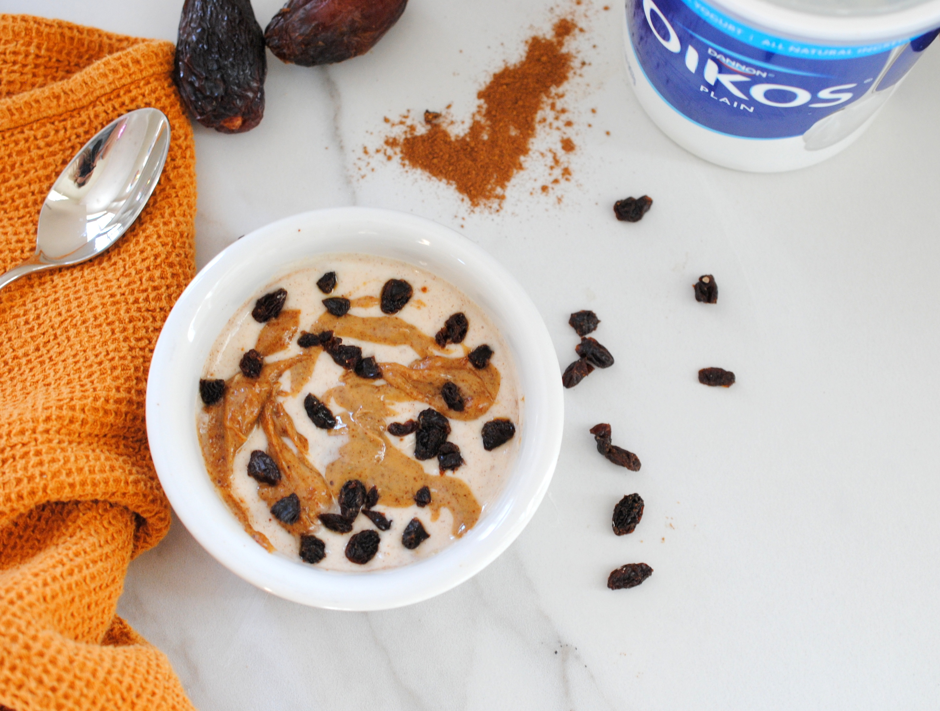 pumpkin spice yogurt bowl