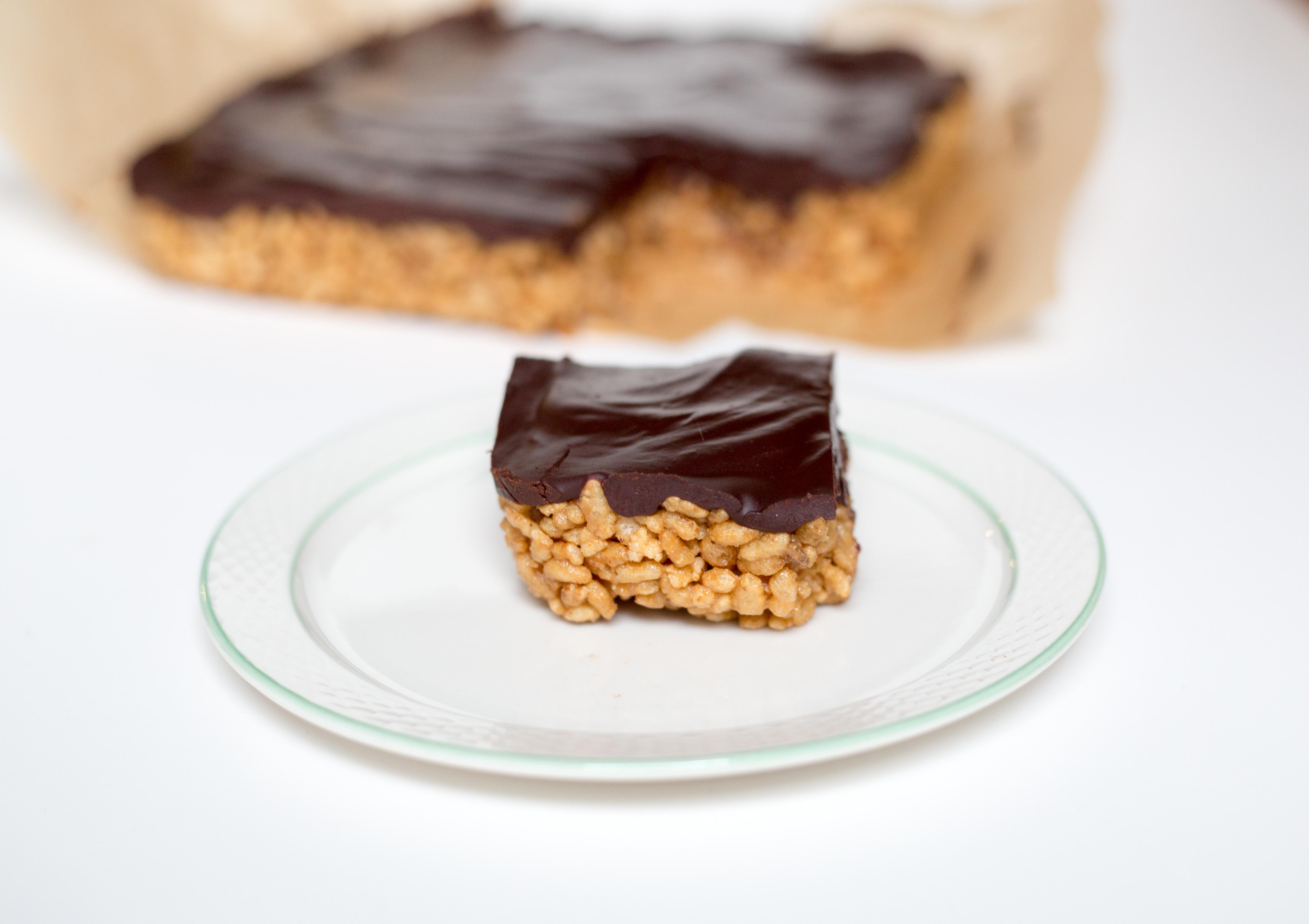 vegan tahini crispy treats