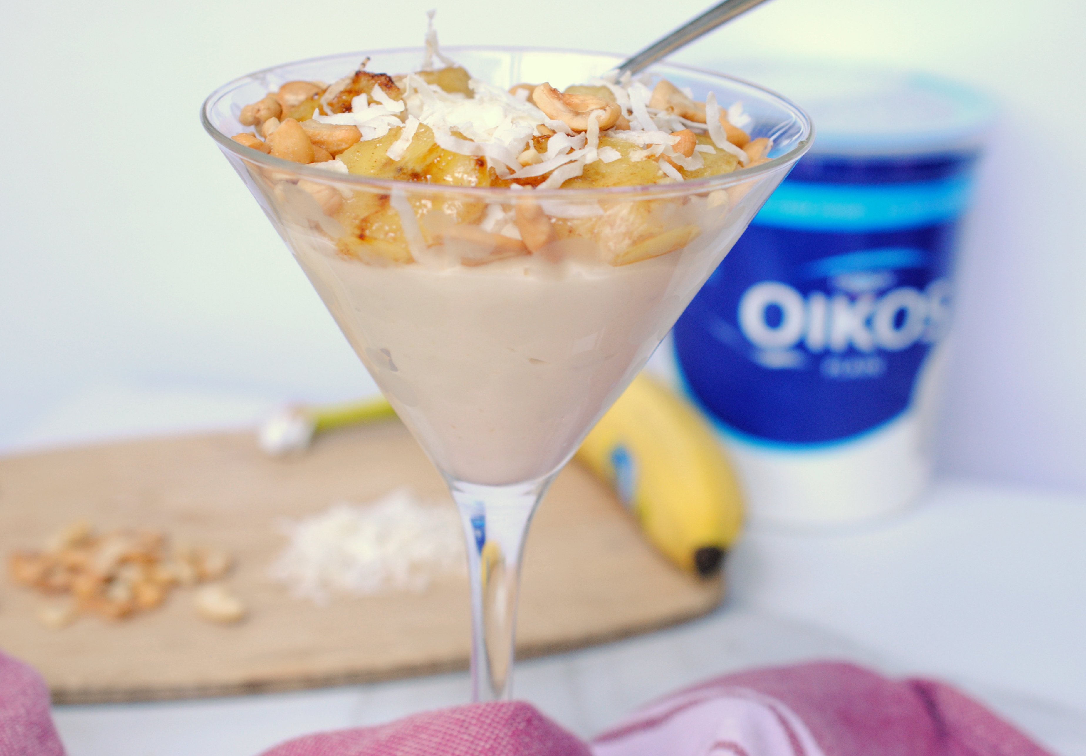 Banana coconut yogurt bowl