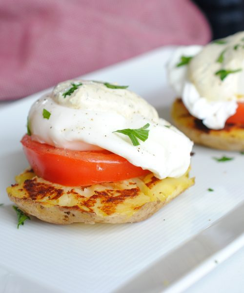 Smashed Potato Benedict