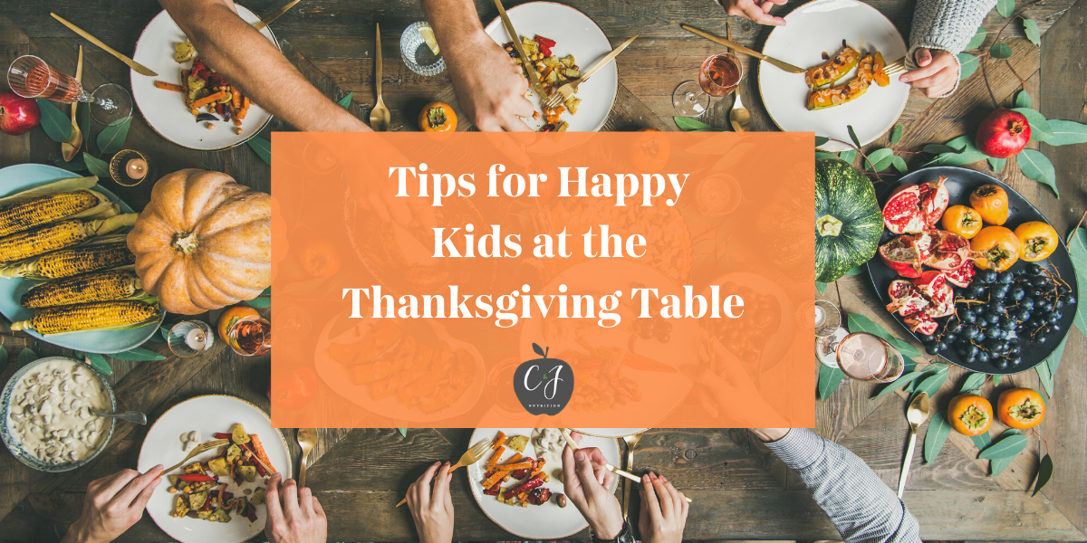 Tips for Happy Kids at the Thanksgiving Table